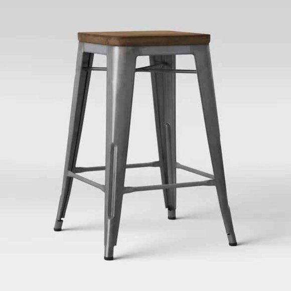 """24"""" Hampden Distressed Industrial Counter stool"""
